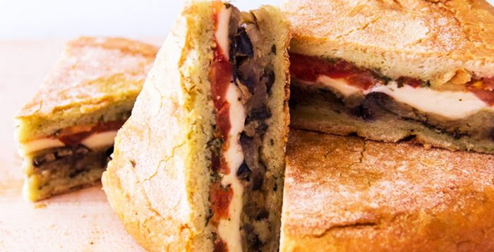 padlizsános szendvics